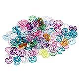 ETHAHE Pack Of 100pcs Multicolor Colorful Loom Rubber Bands Bracelets Refill C-Clips