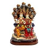 VISHNU LAXMI Resin Statue Idol Showpiece Murti For Home LxHxW(cm) = 14x21x10