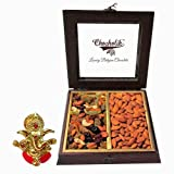 Chocholik Combination Of Cocktail Dry Fruit & Almonds Dry Fruits Box With Ganesha Idol - Chocholik Dry Fruits