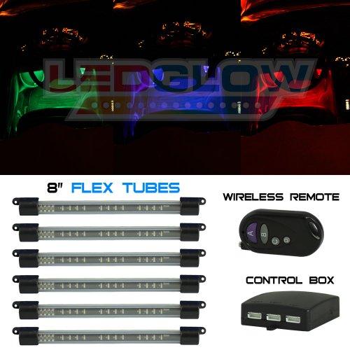 LEDGlow 6pc Million Color Flexible Under Dash Interior Lighting Kit