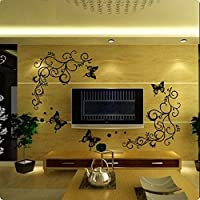 Syga Black Butterfly Wall Stickers
