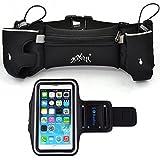 Ranboo Runner Waist Pack Running Belt With Bottle Holder + Outdoor Workout Running Armband Phone Holder For Iphone...