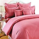 Trance Home Linen Single Bedsheet Cotton Satin 200 TC - Rose Pink