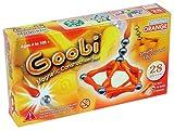 INTRO Pack: Orange (28 pieces) Goobi Magnetic Construction Set.  Contains 16 orange bars, 10 spheres and 2 tripods.