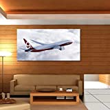 999Store Digitally Printed Flying Plane Unframed Large Wall Print Sticker For Living Room Like Painting Home Décor...