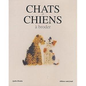 Chats et chiens à broder
