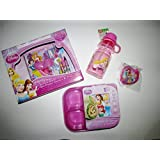Disney Princess Lunch Kit Water Bottle Keepsake My First Diary Sticker Sheet Crayons Mini Notebook
