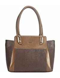 Adamis Beautiful Designed Handbag (Brown_B708)
