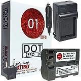 DOT-01 Brand 2000 MAh Replacement Nikon EN-EL3E Battery And Charger For Nikon D90 Digital SLR Camera And Nikon ENEL3E