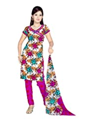Sonal Trendz Women's Polyester Pink Printed Dress Material - B00VHPFDR2
