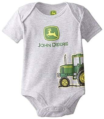 Amazon.com: John Deere Baby-Boys Newborn Tractor Bodyshirt ...