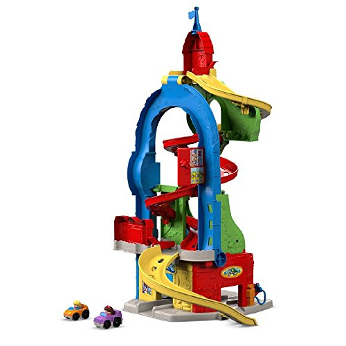 Fisher-Price Little People Sit 'n Stand Skyway Playset Includes Little People Wheelies Cars