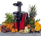 Der OmniJuice Slow Juicer Saftpresse Entsafter mit nur schonenden 43 U/min (maximale Saftausbeute, maximale Vitamine) Rot