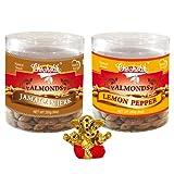 Chocholik Dry Fruits - Almonds Jamaican Jerk & Lemon Pepper With Small Ganesha Idol - Diwali Gifts - 2 Combo Pack