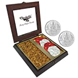 Chocholik Premium Gifts - Unique Gift With Almonds & Belgium Chocolate Rocks With 5gm X 2 Pure Silver Coins -...