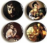 Caravaggio Button Pin Set (Size is 1inch diameter) Italian Renaissance Baroque Art