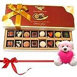 Valentine Chocholik Premium Gifts - Best Treat Of Mix Assorted Chocolates With Teddy