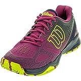 Wilson Women's Kaos Comp Pink/Navy/Green Sneaker 6. 5 B (M)