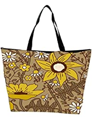 Snoogg Seamless Texture With Flowers And Butterflies Endless Floral Pattern Waterproof Bag Made Of High Strength... - B01I1KH364