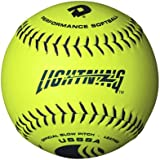 DeMarini Lightning USSSA Men's Classis C Series Slowpitch Leather Softball (12-Pack), 12-Inch, Optic Yellow, 12-Inch/Optic Yellow