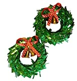 Art with Emphasis Thermacol Wreath with Mini Bell (8 cm x 8 cm x 1.5, Set of 2)