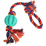 Rrimin Pet Puppy Dog Cotton Rope Braided Knot Chew Toys Dog Playing Teeth Cleaning Exercise Interactive Toys (...