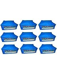 Abhinidi Non-Woven Multipurpose Large 10inc Sareee Cover 9PC Capacity 10-15 Units Saree Each