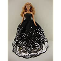 The Most Amazing Black Dress With Lots Of Silver Sequins Made To Fit The Barbie Doll