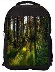 """Snoogg No Way Forest Casual Laptop Backpak Fits All 15 - 15.6"""" Inch Laptops"""