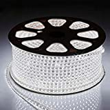 Water Proof 100 METER LED (STRIP LIGHT,COVE LIGHT) Rope Light Color: WHITE With Adapter