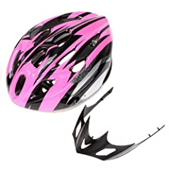 Cycling Bicycle Adult Women Bike Bicycel Carbon Helmet with Visor Pink