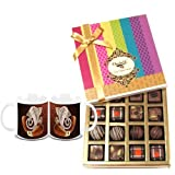 Chocholik Belgium Chocolates - Decadent Truffle And Chocolate Collection Gift Box With Diwali Special Coffee Mugs...