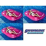"3) Swimline 9052 71"" Swimming Pool Inflatable Suntan Tub Float Lounge Chairs Fun"