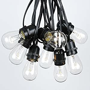string lights kitchen s14 clear edison outdoor string lights by 2579