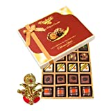 Chocholik Belgium Chocolates - Lovely 20pc Mix Assorted Chocolate Box With Ganesha Idol - Diwali Gifts