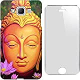 Buddha Design 3D Printed Hard Back Case Cover For Apple IPhone 5c + Tempered Glass