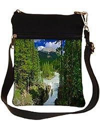 Snoogg Water Flowing Cross Body Tote Bag / Shoulder Sling Carry Bag