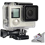 Deyard Waterproof Housing Case With Quick Release Mount And Thumbscrew For GoPro Hero 4 And Hero 3+ Action Camcorder...