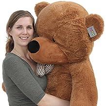 "Joyfay Big Giant 63"" 160cm Dark Brown Teddy Bear Soft Stuffed Plush Animal Toy"