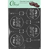 Cybrtrayd B023 It S A Boy Lolly Chocolate Candy Mold With Exclusive Cybrtrayd Copyrighted Chocolate Molding Instructions
