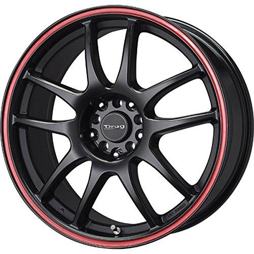 Drag Wheels DR-31 16×7/ 4×100/ 4×114.3 Flat Black w/ Red Stripe rims