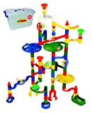 Marbulous Modular Marble Run w/82 Pieces Plus 50 Marbles Total of 132 Pieces - Made of Quality Child-Safe Plastic in Reusable Plastic Bucket