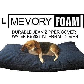 LARGE DURABLE Shredded Memory Foam Dog Bed Pillow 50