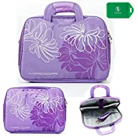 Lightweight Full Protection Laptop Bag With Carrying Handles And Shoulder Strap- Purple/Violet-Unive