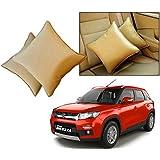 Car Vastra Cushion Pillow Set Beige Color For Car & Home For - Maruti Suzuki Vitara Brezza