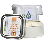 Greenfire Orange Carrot Coconut All Natural Massage Oil Candle Fragranced With Essential Oils (Size: 2 Fluid Ounce)