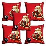 MeSleep Red Merry Christmas Cushion Cover (16x16)