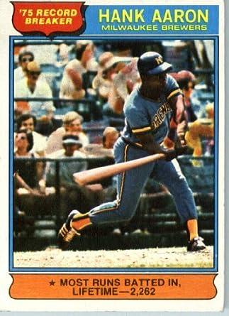 Amazon.com: 1976 Topps Baseball Card IN SCREWDOWN CASE #1
