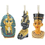 Design Toscano Icons Of Ancient Egypt Holiday Ornament Collection: Set Of Six