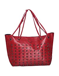 Iva Artificial Leather Red Hand Bag & Sling Bag Pack Of 2